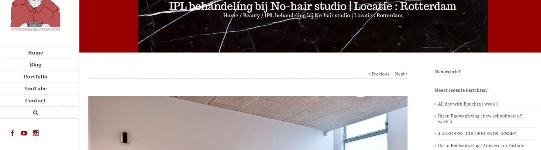 IPL behandeling bij No-hair studio | Locatie : Rotterdam