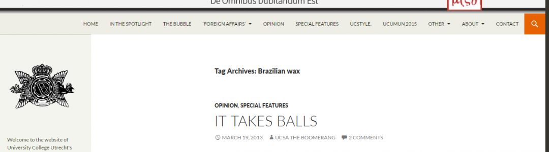 Brazillian wax – IT TAKES BALLS | Boomerang UCSA